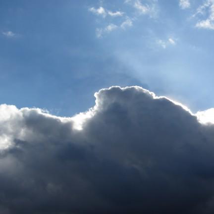 Regenwolke über Gera