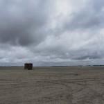 Klohäuschen am Strand von Lakolk auf der Insel Rømø