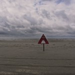 Rettungskasten am Strand von Lakolk auf der Insel Rømø