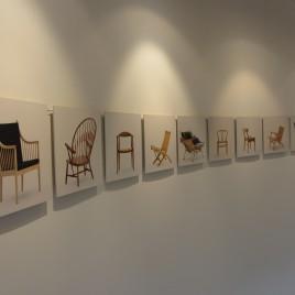 Stuhlgalerie von Hans J. Wegner im Wasserturm am Kunstmuseum in Tønder