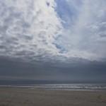 Wolkenaufzug am Strand von Lakolk auf der Insel Rømø nach Südwesten
